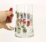 Немецкая кружка для пива, пивной бокал, стекло, Германия, гербовая символика, фото 2