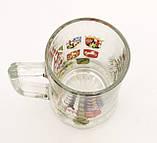 Немецкая кружка для пива, пивной бокал, стекло, Германия, гербовая символика, фото 7
