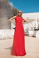 Легкое летнее платье (Красный. Размер до 52)