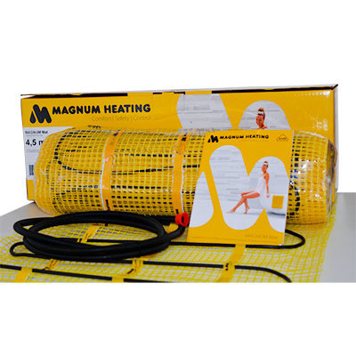 Теплый пол MAGNUM Mat 4,0 m² тонкий нагревательный мат под плитку