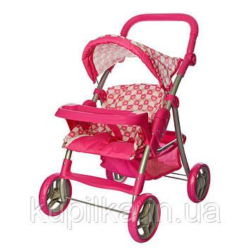 Детская коляска для кукол Melogo 9337E-T малиновая