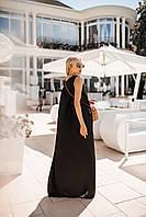 Легкое летнее платье (Черный. Размер до 52)