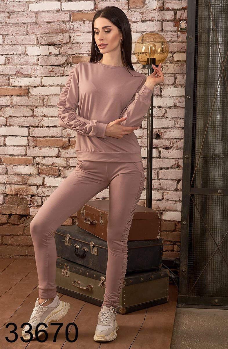 Стильный спортивный костюм брюки с кофтой р.42,44,46