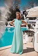 Легкое летнее платье (Мята. Размер до 52)