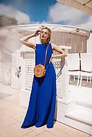 Легкое летнее платье (Электрик. Размер до 52)