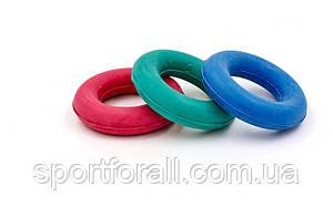 Эспандер кистевой Кольцо Цветной UR  резина, d-3,5x7см, нагрузка 30кг FI-4097
