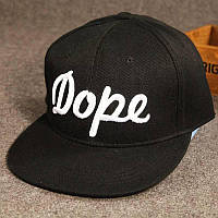 Кепка снепбек Dope с прямым козырьком Черная 2, Унисекс, фото 1
