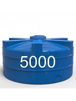 Емкость пластиковая двухслойная вертикальная ч объемом 5000 литров.