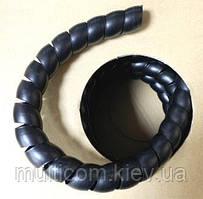 18-02-004. Спиральная оплетка РР, диам.-16мм, чёрная, 20м/бухта