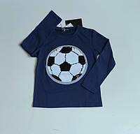 Джемпер, кофта  для мальчика  футбольный мяч  с пайетками перевертышами 6**,12,14 лет