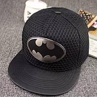 Кепка снепбек Бэтмен с прямым козырьком Черная 2, Унисекс, фото 1