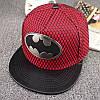 Кепка снепбек Бэтмен с прямым козырьком Красная 2, Унисекс