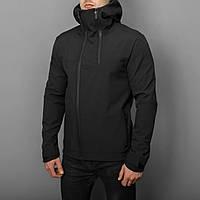 """Мужская весенняя куртка с капюшоном Pobedov Jacket """"Pyatnitsa"""" черная"""