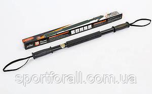 Эспандер силовой прут Power Twister CIMA  (металл, ручка резина, l-61см, d-4см,нагрузка 20кг, черный) CM-H102