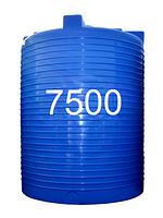 Емкость пластиковая двухслойная вертикальная объемом 7500 литров.