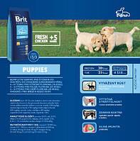 Корм для собак Brit Premium Puppies 3 кг, брит для щенков всех пород