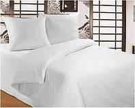 Двуспальный комплект . постельное белье однотонное белое  , постельное бязь