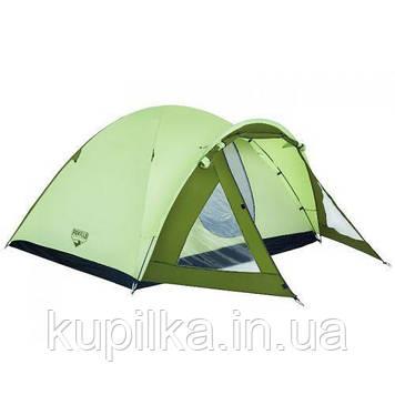 Палатка 68014 (100+210)*240*130 см), 4-местная, антимоскитная сетка, сумка