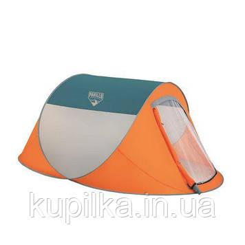 Палатка туристическая 68004 (235*145*100 см), 2-местная, антимоскитная сетка, сумка