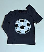 Джемпер, кофта  для мальчика  футбольный мяч  с пайетками перевертышами 8,,12,14 лет