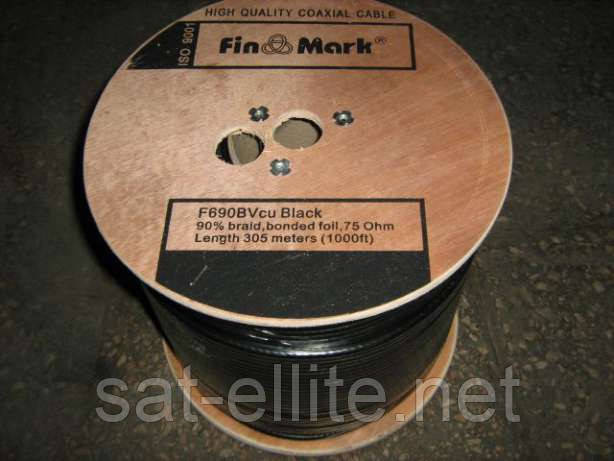 TV каб. FinMark F690BVcu black, медь (305 м)