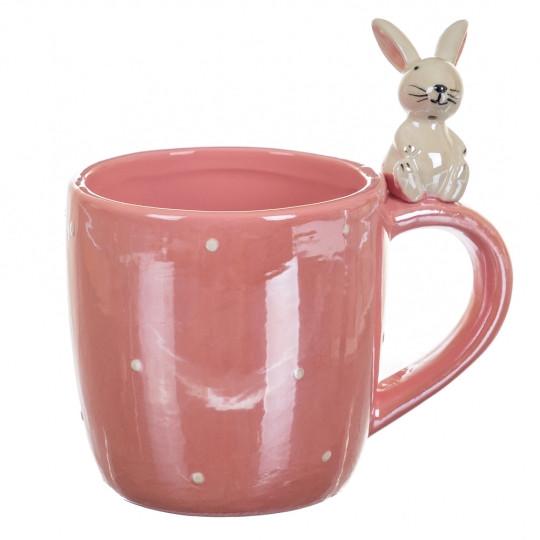 Чашка Весёлый кролик, красная (400 мл)
