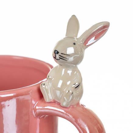 Чашка Весёлый кролик, красная (400 мл), фото 2