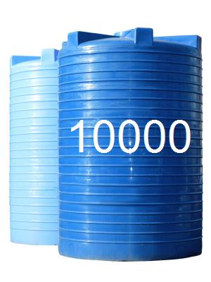 Емкость пластиковая двухслойная вертикальная узкая 10000 литров.