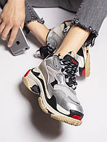 Женские кроссовки в стиле Balenciaga Triple S Silver, фото 2