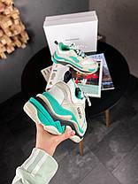 Женские кроссовки в стиле Balenciaga Triple S Mint, фото 2