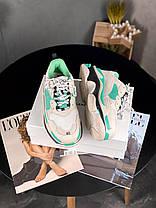 Женские кроссовки в стиле Balenciaga Triple S Mint, фото 3