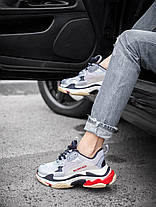 Женские кроссовки в стиле Balenciaga Triple S Silver, фото 3