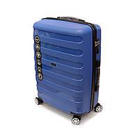 Средний чемодан Wings, 4-х колесный, на 70 л, синий