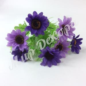 Букет ромашки крупной,фиолетово сиреневый, 40 см