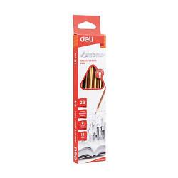 Олівець ч / г Deli EU50600 мікс 2B трикутний з ласт зао