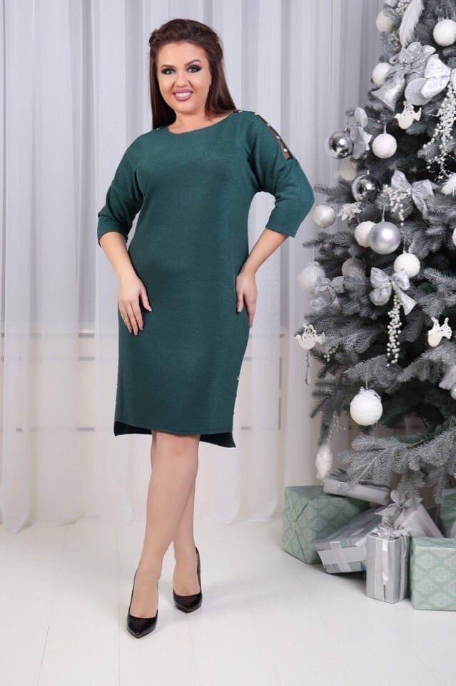 Элегантное батальное женское платьеот48 до58р (2расцв)