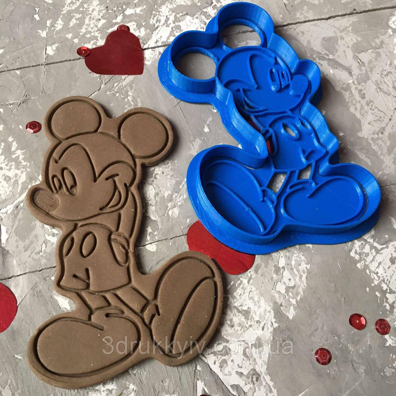 Вирубка зі штампом Міккі Маус / Вирубка - формочка зі штампом Міккі Маус