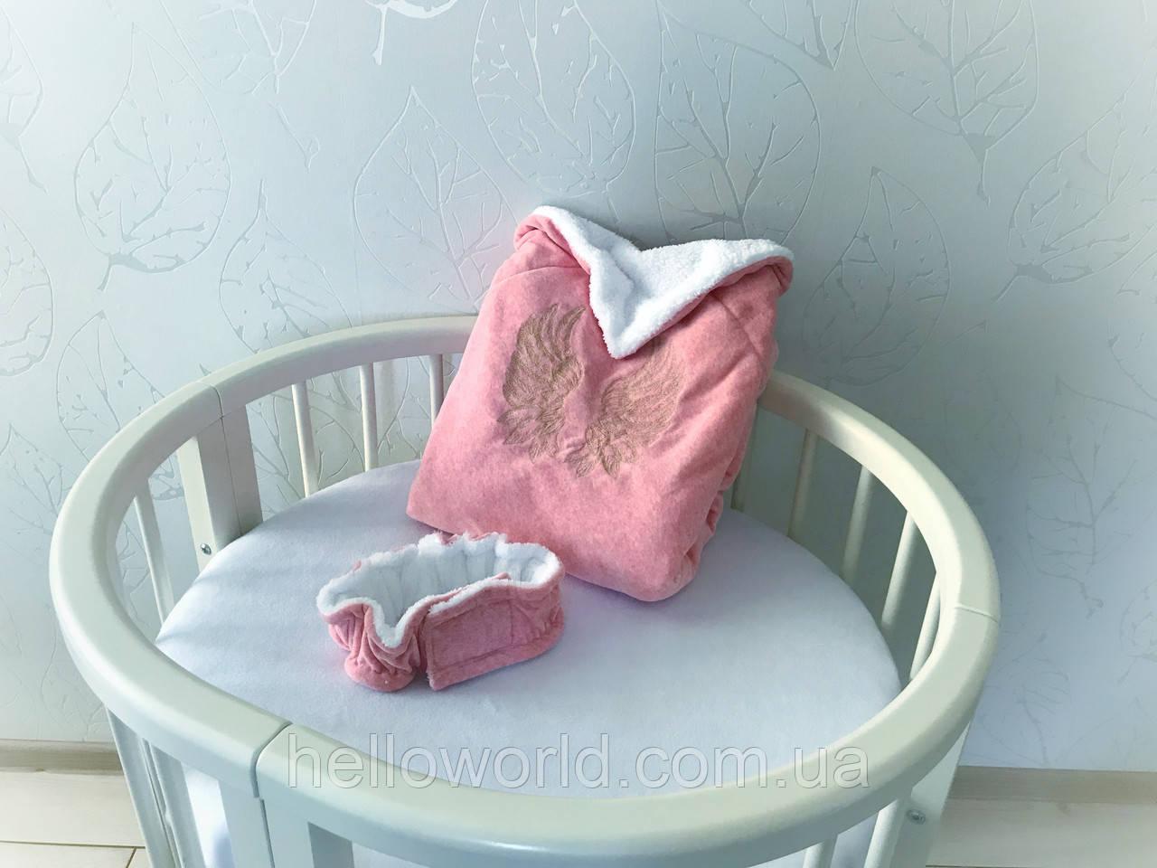 Одеяло махровое персиковое