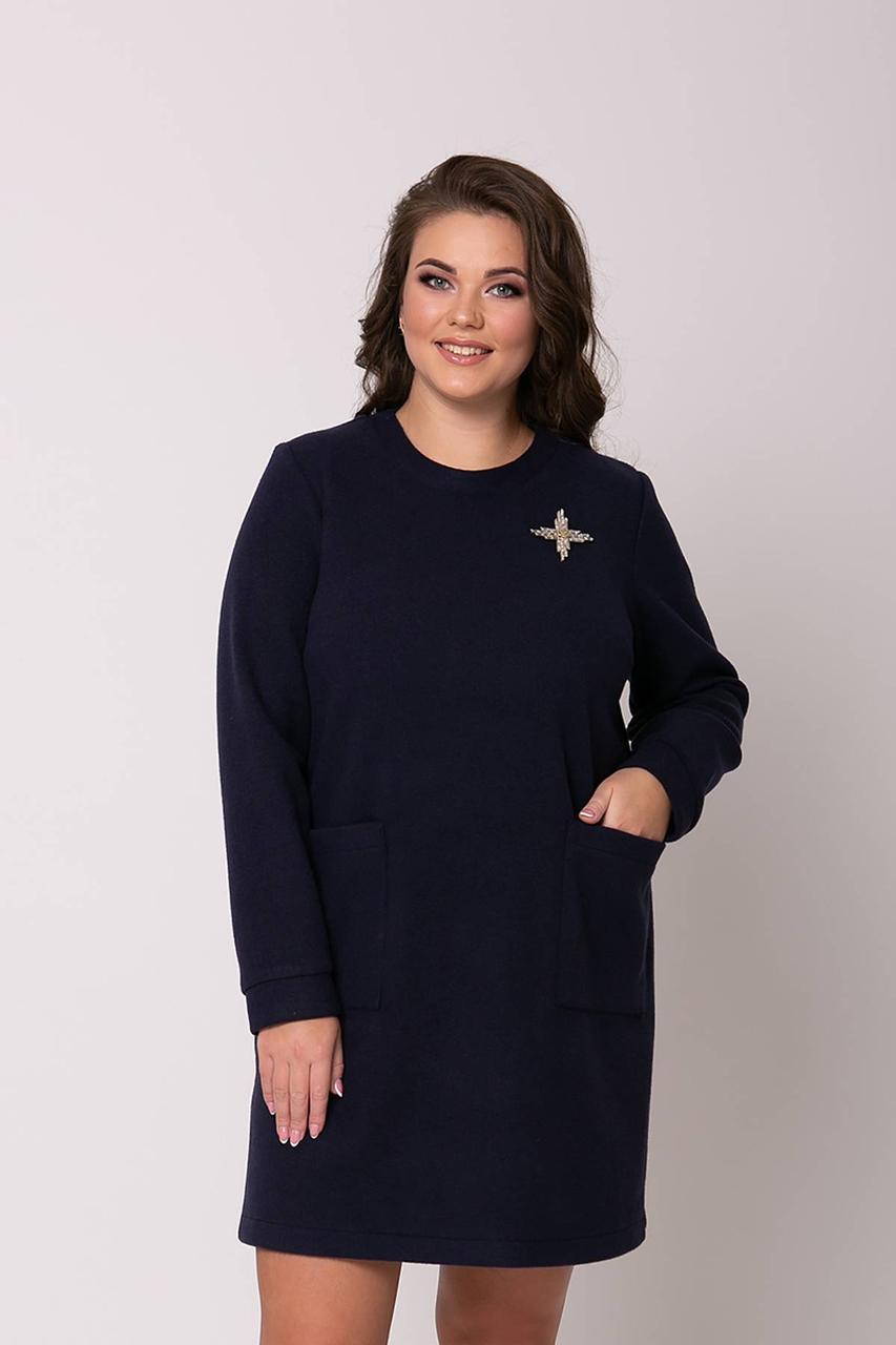 Тепле плаття-туніка 54-60 розміри