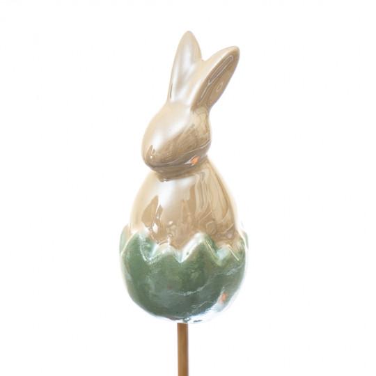 Топпер Кролик зеленый 25см./6,5 см