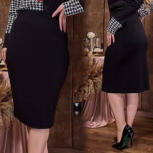 Классическая чёрная юбка-карандаш