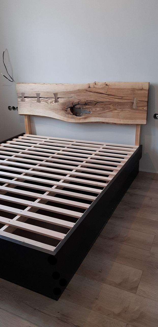 Двуспальная кровать из массива дерева ясеня 160х200