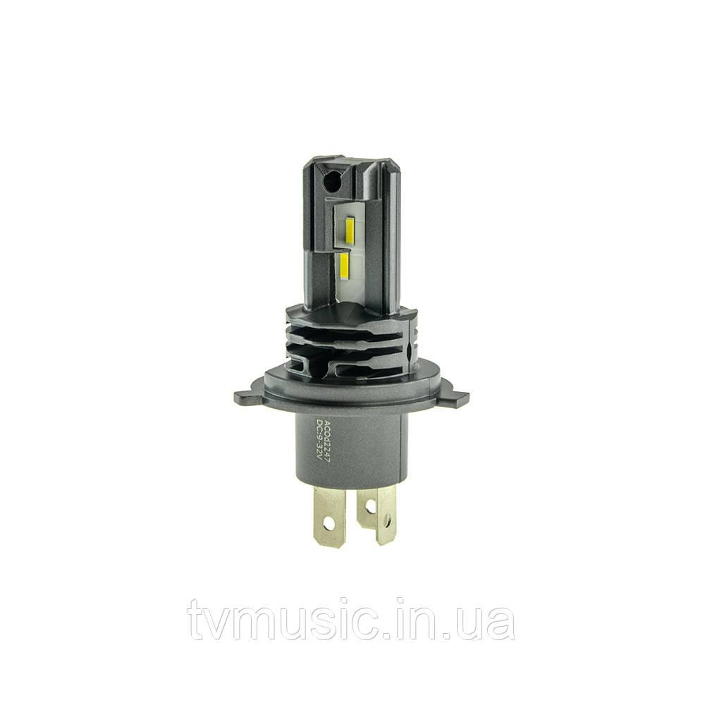LED лампа CYCLONE H4 H/L 5000K 4600Lm Type 33
