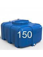 Емкость квадратная пластиковая для летнего душа двухслойная объем 150 литров.