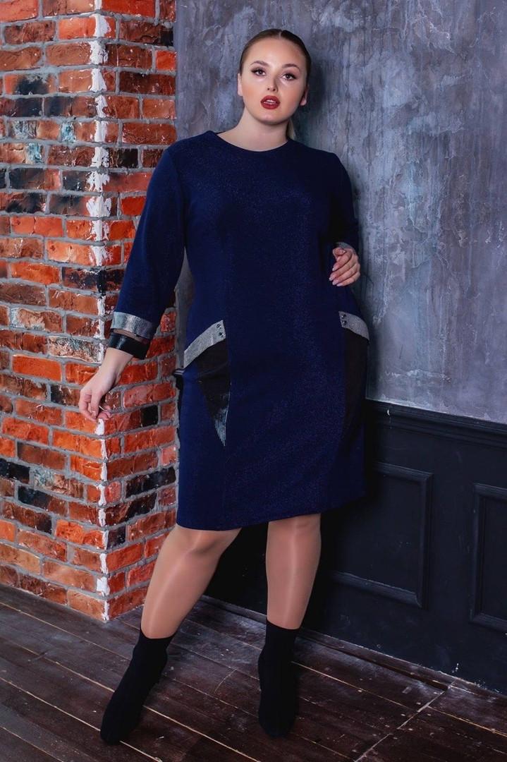 Женское красивое повседневное платьеот52 до58р (3расцв)