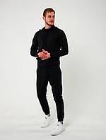 Весенний мужской костюм спортивный ASOS с капюшоном черный