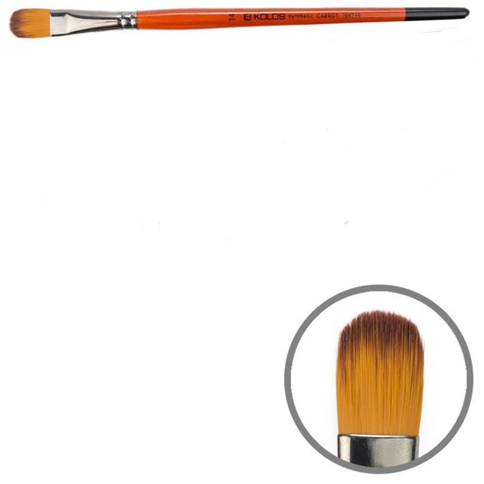 Пензель синтетика овальна № 14 Kolos Carrot 1097FR, 42109714