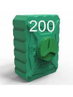 Емкость пластиковая квадратная объем 200 литров трёхслойная.