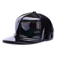 Кепка снепбек Блестящая с прямым козырьком Голограмма Черная 2, Унисекс, фото 1