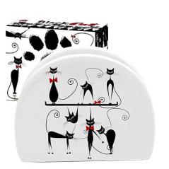 Підставка для серветок 'Чорна кішка' (довжина-10см, h-8 см)